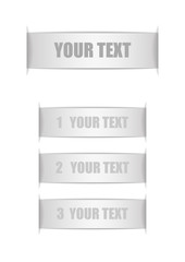 Vector : Silver labels with space for text on white background