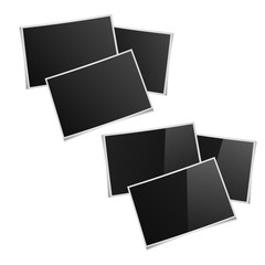 six rectangular pictures with shadows image for premises, matte,
