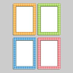 Four multi-colored children's photo frames in the box, blue, ora