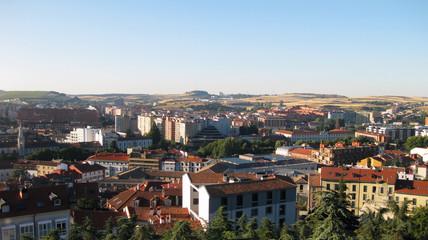 Panorámica de la Ciudad de Burgos, España.