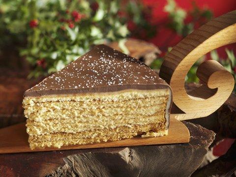 A piece of tree cake