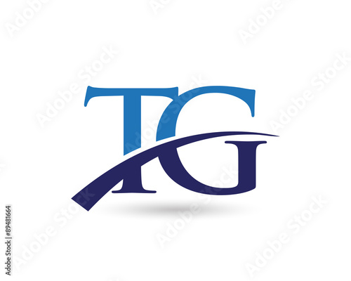 Tg Logo Letter Swoosh Stock Image And Royalty Free Vector