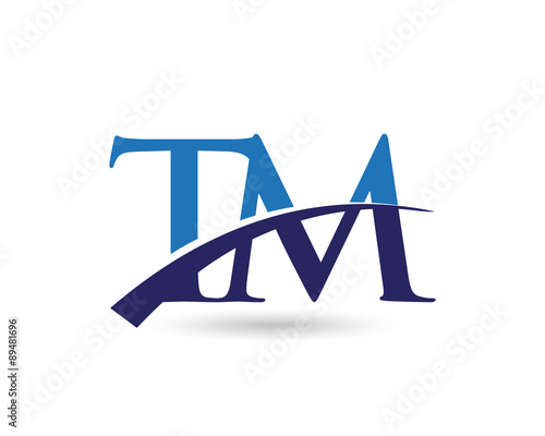 u0026quot tm logo letter swoosh u0026quot  stock image and royalty-free vector files on fotolia com