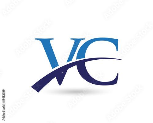 """VC Letter Logo Swoosh"" Stock image and royalty-free ..."