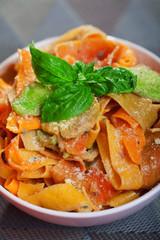 Parpadele with zucchini