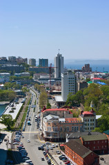View of part of Vladivostok. Russia. 22.05.2015