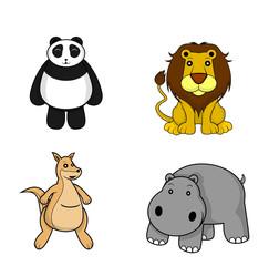 wild animal.panda.lion.kangaroo.panda.hyppo