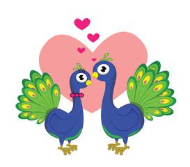 peacock romantic couple