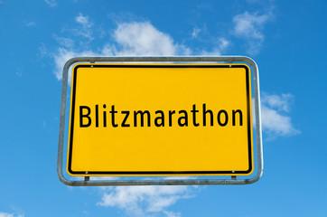 Ortstafel Blitzmarathon 03