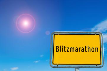 Ortstafel Blitzmarathon 01