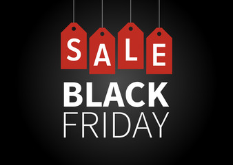 Black Friday Sale promotion vector display poster