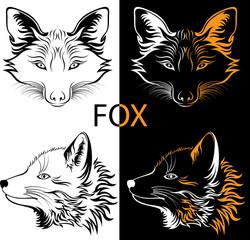 tattoo fox logotype