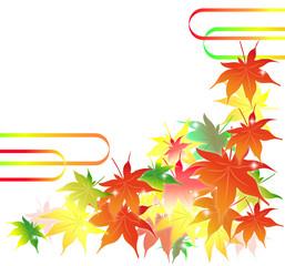 紅葉、もみじ、カエデ、秋、イベント、背景、イラスト、和、日本、