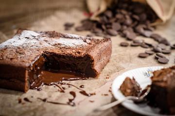 French chocolate fondant cake