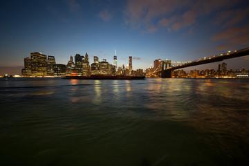 paesaggi notturni della città di new york