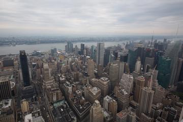 paesaggi dall'alto della città di new york con grattacieli