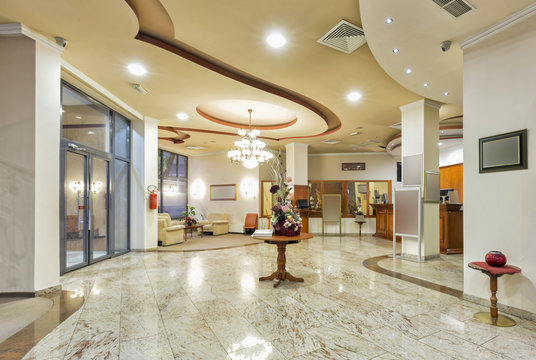 Hotel lobby interior