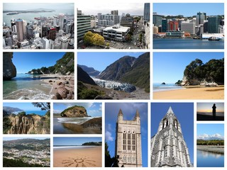 New Zealand landmarks - travel places