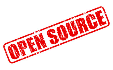 OPEN SOURCE red stamp text