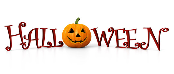 Halloween - carved pumpkin - banner