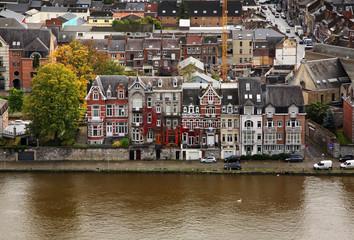 Embankment of  Meuse (Maas)  river in Namur. Belgium