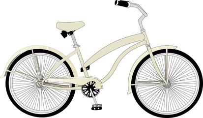 Векторный велосипед в ретро стиле