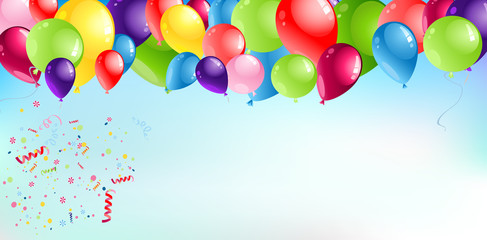 Ballons Header Background