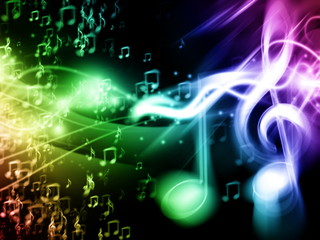 Colour Music Background