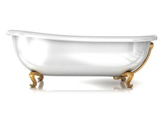 Bathtub isolated on white