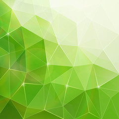 Abstract geometry green crystals pattern