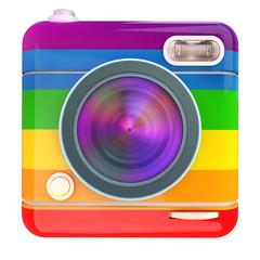 Camera icon rainbow