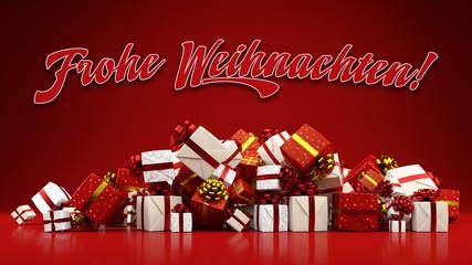 Frohe Weihnachten mit vielen Geschenken