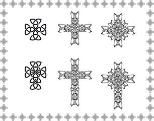 celtic stylization cross