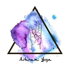 Element yoga Prithivi mudra hands