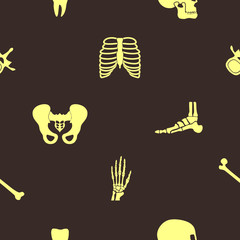 Seamless background with human bones  for your design
