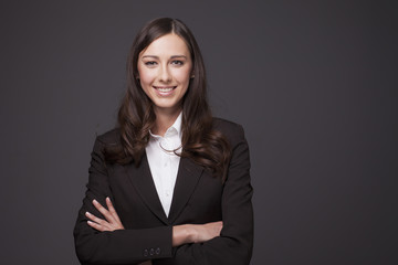 Businesswoman smiling,portrait