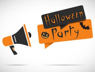 megaphone : halloween party