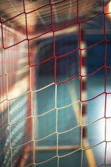 football or handball playground. Gate net