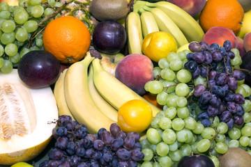background of fresh fruits bunch berry banana