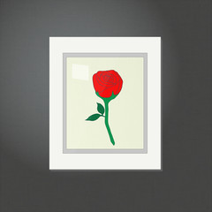 Rose Picture on a White Frame EPS10