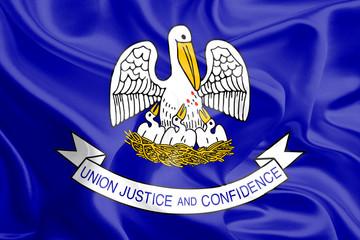 USA State Flags: Waving Fabric Flag of Louisiana