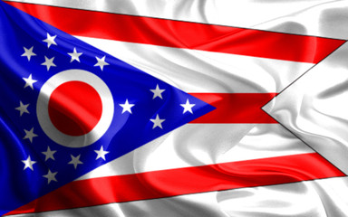 Flags of the U.S. states: Waving Fabric Flag of Ohio