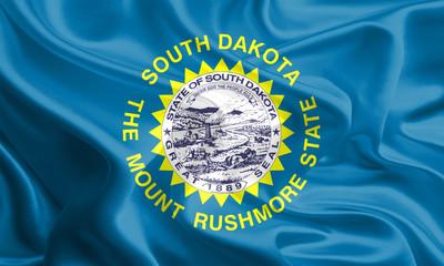 Flags of the U.S. states: Waving Fabric Flag of South Dakota