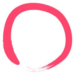 red grunge circle