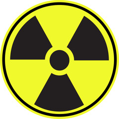 Radioactive contamination symbol sign - Illustration