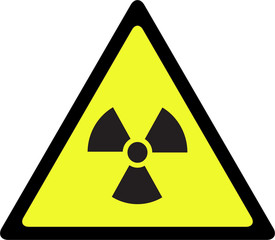 Radioactive contamination symbol sign - Illustration