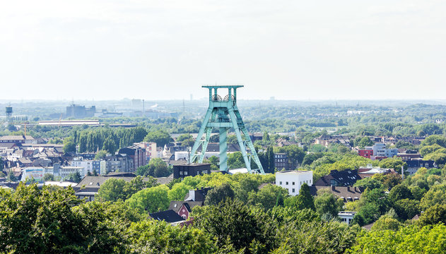 Blick auf den Förderturm in Bochum | Stadtbild