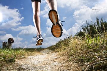 Germany,Bavaria,Mature Man jogging