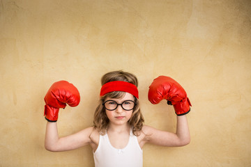 Funny strong child Wall mural