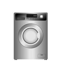 Realistic  illustration of new washing machine isolated on white